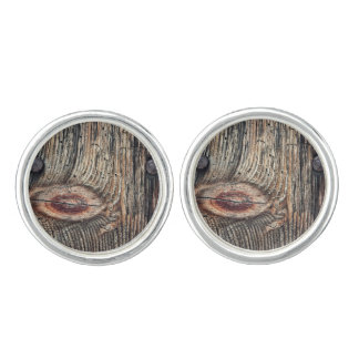 Plank of Wood Cufflinks (Silver Plated)