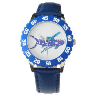 Plankton shark cartoon watch