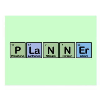 Planner made of Elements Postcard