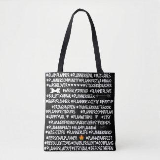 Planner Popular  Hashtag Tote Bag
