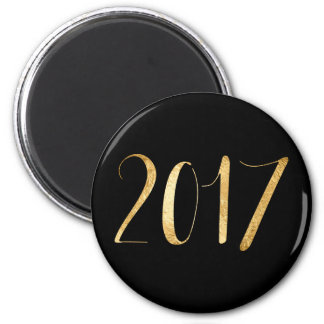 Planner Words 2017 Year Black Gold Glam Script Magnet