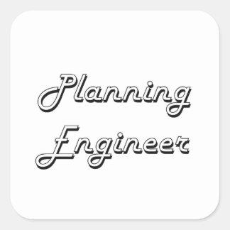 Planning Engineer Classic Job Design Square Sticker