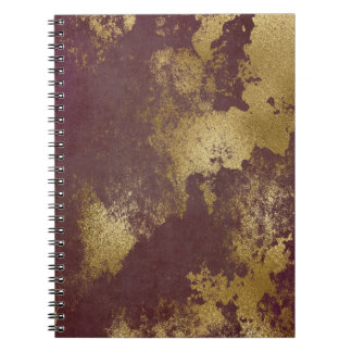 Planning Gold Distressed Paint Metallic Notebook