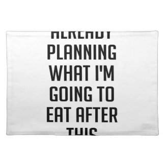 Planning What To Eat Placemat