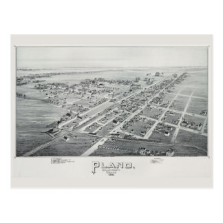 Plano 1891 Overview Postcard