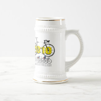 Plano Bicycle 2010 Cycling Logo Tees & Gifts Beer Steins
