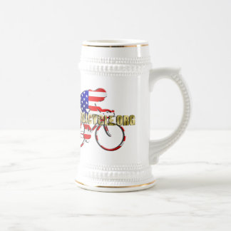 Plano Bicycle American Patriot Cycling Logo Beer Steins