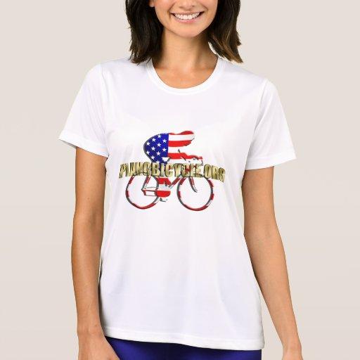 Plano Bicycle American Patriot Cycling Logo Tees