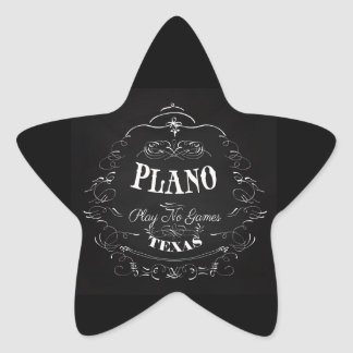 Plano, Texas - Play No Games Star Sticker