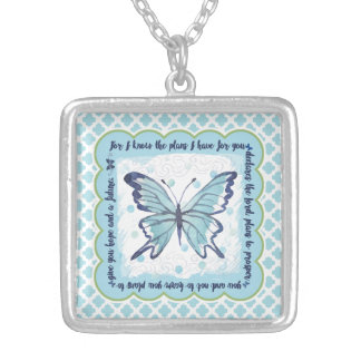 Plans for You Butterfly Necklace