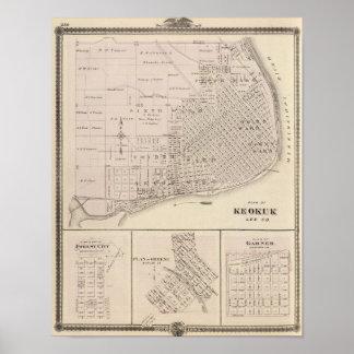 Plans of Keokuk, Forest City Poster