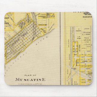 Plans of Muscatine, West Liberty Mousepads