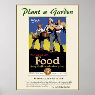 Plant a Garden Poster