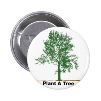 plant a tree pinback button
