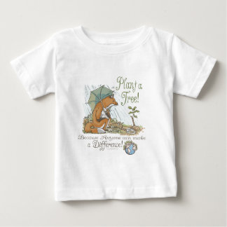 Plant a Tree Earth Day Fox Gear Baby T-Shirt