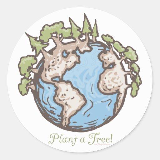 Plant a Tree Earth Day Gear Sticker