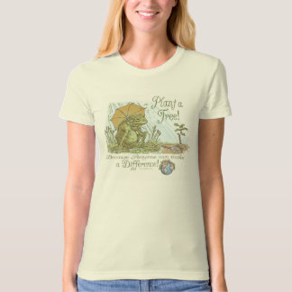 Plant a tree Earthday Frog by Mudge Studios T-Shirt