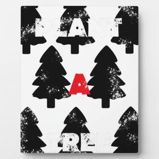 Plant A tree Pattern Plaque