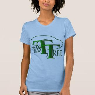 Plant a Tree Text Design Ladies Petite T-shirt