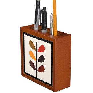 Plant Abstract Autumn Desk Organiser