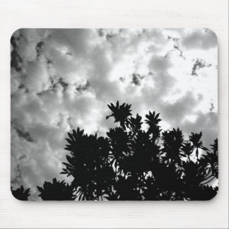Plant and cloud mouse pad