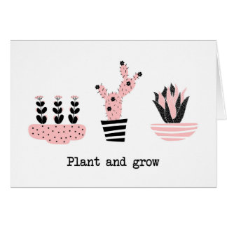 Plant and grow card