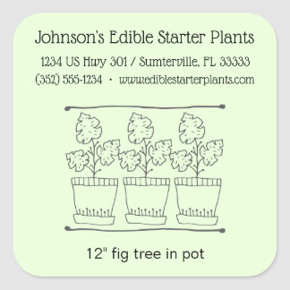 Plant and Tree Nursery Business Product Label