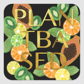 PLANT BASED FRUIT SQUARE STICKER