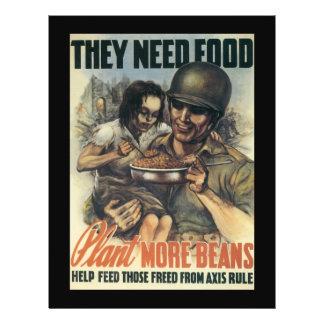 Plant Beans World War 2 21.5 Cm X 28 Cm Flyer