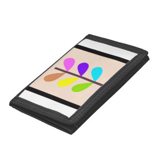 Plant Colourful Abstract Trifold Wallet