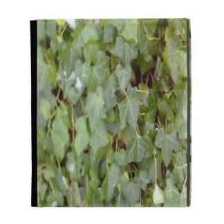 Plant covering stone wall iPad folio cover