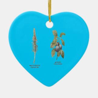 Plant Design Ceramic Heart Decoration
