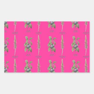 Plant Design Rectangular Sticker