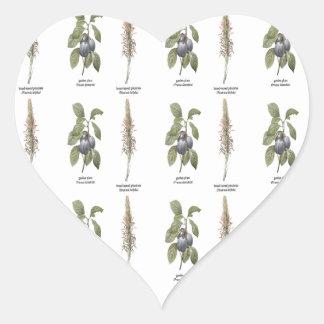 Plant Design Heart Sticker