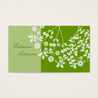 Plant handle card visiting card