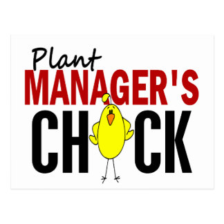 PLANT MANAGER'S CHICK POSTCARD