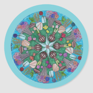 Plant Mandala Round Sticker