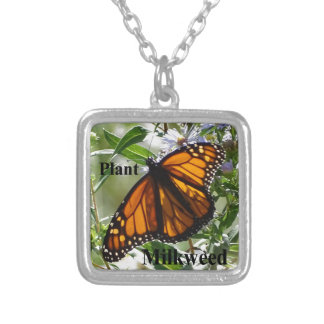 Plant Milkweed Silver Plated Necklace