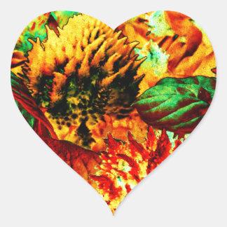plant on fire heart sticker
