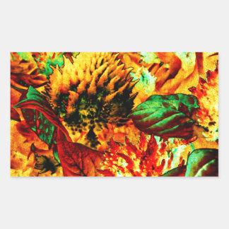 plant on fire rectangular sticker