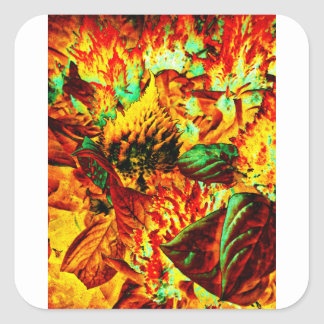 plant on fire square sticker