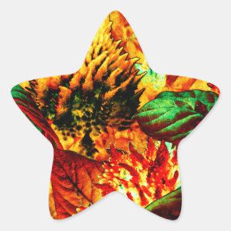 plant on fire star sticker