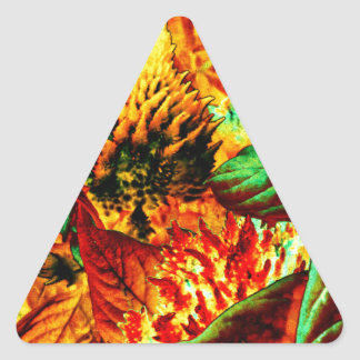 plant on fire triangle sticker