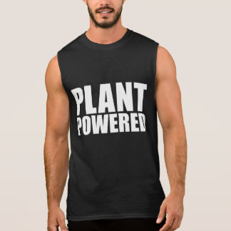 Plant Powered Vegan Simple Bold White on Black Tee