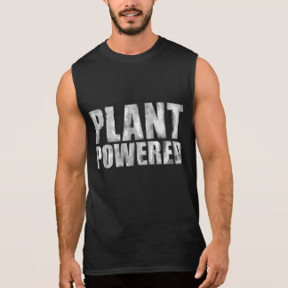 Plant Powered Vegan Washout White on Black Tee