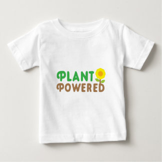 plant powered with cute sunflower baby T-Shirt