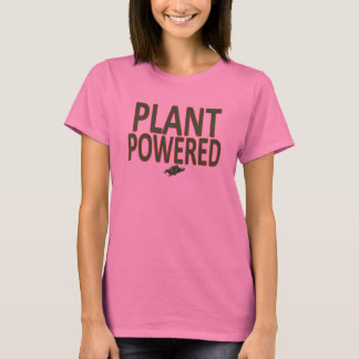'Plant Powered' workout/running shirt for Women