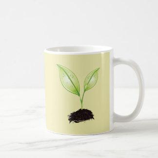 Plant Seedling Green Earth Leaf Root Seed Mugs