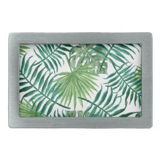 Plant Tropical Botanical Palm Leaf Belt Buckle