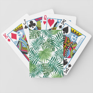 Plant Tropical Botanical Palm Leaf Bicycle Playing Cards